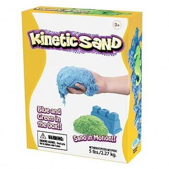 Kinetic Sand 藍色和綠色